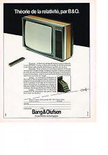 Publicité advert  1983    BANG & OLFUSEN   théorie de la relativité le Beovision