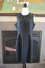 NWT J Crew Keyhole Dress in Super 120s Sz 2 XS Extra Small 77202 $198 NAVY