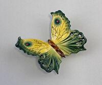 Porzellan Figur Wand-Schmetterling gelb/grün Ens 10,5x9,5x3cm  9941254