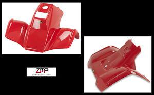 NEW HONDA TRX70 RED FRONT AND REAR PLASTIC FENDER SET 86-87 PLASTICS