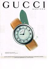 PUBLICITE   1994   GUCCI  collection montres                              140613