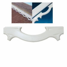 RT22 Decorative UPVC Plastic Fascia Bargeboard Mouldings White (Pack of 4)