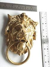 NEW ROYAL ENFIELD BSA BULLET VINTAGE BRASS MADE LARGE LION BADGE FOR REAR FENDER