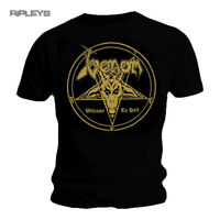 Official T Shirt VENOM Black Death Metal WELCOME TO HELL Gold All Sizes