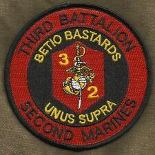 USMC THIRD BATTALION SECOND MARINES 3/2 BETIO BASTARDS UNUS SUPRA MILITARY PATCH
