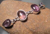 Sterling silver beautiful triple linked cabochon AMETRINE pendant. Gift Bag.