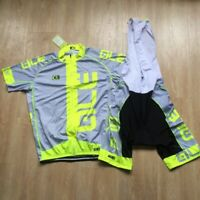 Men Cycling Jersey Bib Short Set Cycling Jersey Short Sleeve Tops Cycling Shorts