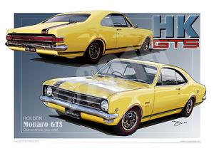 Holden HK Monaro Print - Classic Holden Monaro Digital Car Drawing in 33 Colours