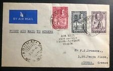 1936 Lagos British Nigeria First Flight Airmail cover FFC To Athens Greece