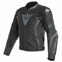 Dainese Avro 4 Moto Motorcycle Motorbike Leather Jacket Matt Black / Anthracite