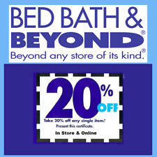 Bed Bath Beyond 20% Off One Item Coupon  *In Store & Online * FAST DELIVERY