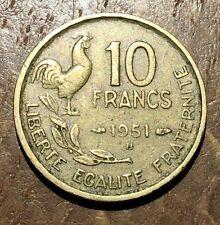 PIECE DE 10 FRANCS GUIRAUD 1951 B (53)