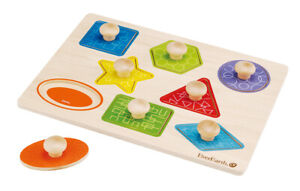 EverEarth Puzzle Shapes Wooden Toy for 3 years plus EE33301