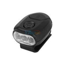 Waterproof Clip On 3 LED Head Lamp Cap Hat Light For Fishing Hunting Outdoor GW