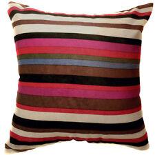 Ma06a Rainbow Velvet Style Cotton Blend Cushion Cover/Pillow Case*Custom Size