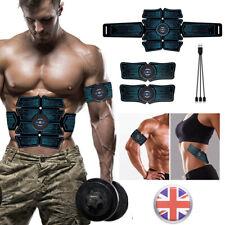 UK Abdominal Toning Trainer Muscle Toner ABS Stimulator Toner Fitness Belt USB