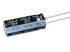 10pcs Panasonic FR 1000uF 25v 105c Radial Electrolytic Capacitor Low ESR