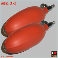 Inflator bulb with control valve - pump ball - red rubber - double pack (2x)