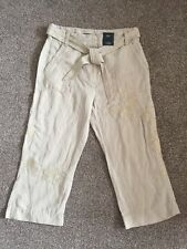 M&S Collection Mid Rise CROPPED with TENCEL trousers UK18 EU46 Regular BNWT St