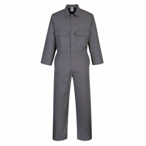 PORTWEST QUALITY COVERALL,GREY,OVERALL,BOILERSUIT,SMALL - 2XL,STUD,WORK,MECHANIC