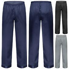 Мужские атласные пижамные брюки сплошной цвет удобные мягкие для отдыха сна брюки длинные пижамы низ