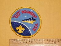 VINTAGE BSA BOY SCOUTS OF AMERICA PATCH GO ROUNDUP