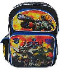 "Transformers 16"" School Large Backpack Boy Backpack Optimus Prime Bumblebe"