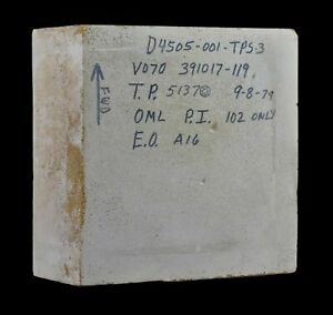 NASA Space Shuttle Columbia OV-102 Orbiter External Fit Check Reference Tile 6x6
