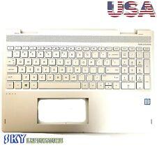 HP Envy X360 15-BP Silver Palmrest Backlit Keyboard 460.0BX0T.0002 934640-001
