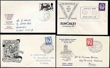PHILATELIC CONVENTIONS 1962-67 ILLUSTRATED COVERS...4 ITEMS