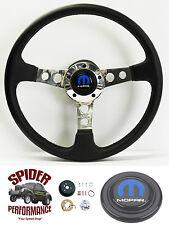 "1968 1969 Dart Charger Coronet steering wheel LEATHER 14"" Grant steering wheel"