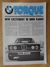 BMW Coppia newsletter MAGAZINE ESTATE 1978 EDIZIONE 11 BROCHURE - 323i m1