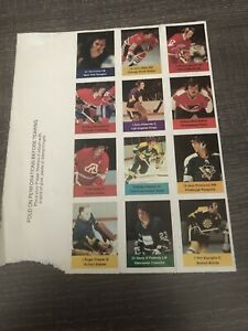 1974 NHL Power Players. -12 Player Panel