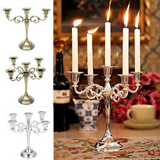 3/5 Arms Wedding Romantic Table Craft Candelabra Alloy Candle Holder Stand Decor