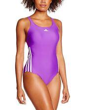 Adidas Women's Inspiration 3 Stripe Swimsuit UK 28
