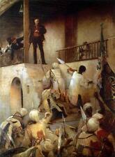 Generale GORDON'S LAST STAND Khartoum Sudan impero britannico Mahdi 7x5 pollici stampa