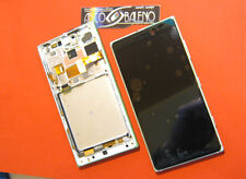 DISPLAY+TOUCH SCREEN +COVER FRAME per NOKIA LUMIA 830 SILVER MICROSOFT RM 985