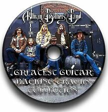 ALLMAN BROTHERS BAND STYLE ROCK GUITAR AUDIO BACKING TRACKS CD COLLECTION