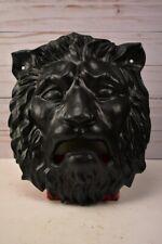 "Vintage 10.25"" x 8.25"" Black Cast Iron Lion Door Knocker - Head Only"