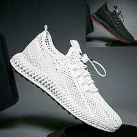 Outdoor Men's Breathable Mesh Shoes knit Sports Running Athletic Shoes Sneakers