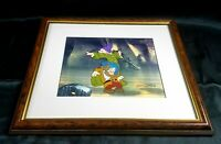 "C.O.A. Walt Disney Signed movie cel ""Dopey and Sneezy"" snowwhite animation"