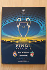 2018 CHAMPIONS LEAGUE FINAL (Mens & Womens) & 2018 EUROPA CUP FINAL PROGRAMMES