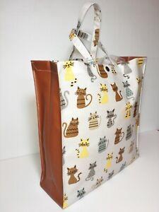 UK Handmade,100% Oilcloth Cotton Bags, Funky Cats & Spice Nikki's Original Totes