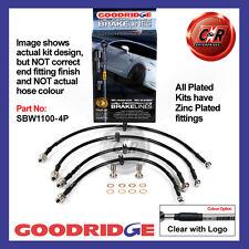 BMW Mini One/Coop+S R50/R53 To 09/03 Goodridge Plated CLG Brake Hoses SBW1100-4P