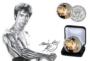 Bruce Lee - Ltd Edition Memorial Colorized Kennedy JFK Half Dollar Coin