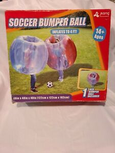 Body Bumper Bubble Soccer Balls for Kids/Adults, 4 FT Zorb Ball 1 Red Ball