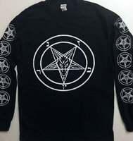 PENTAGRAM LongSleeve T shirt  w/ Sleeve prints Satanic Satan Witchcraft 2XL- 3XL