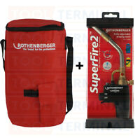 Rothenberger Super Fire 2 Blow Torch Soldering Brazing Gas Refillable + Bag Tool