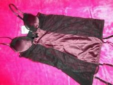 ANN SUMMERS UNDERWIRED MAROON/BLACK CAMI SUSPENDER COLETTE  size 10 NEW WITH TAG