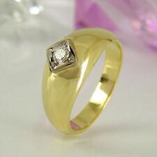 Unisex Echtschmuck aus Gelbgold mit VS Reinheit Ringe
